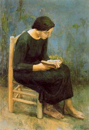 Josefina leyendo.