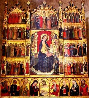 Pere Serra. Retablo de todos los Santos.1375.San Cugat del Vallés.