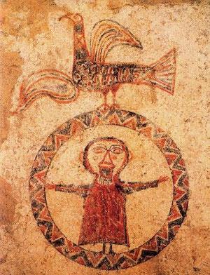 Pintura mural S X Iglesia de Sant Quirze de Pedret, Barcelona