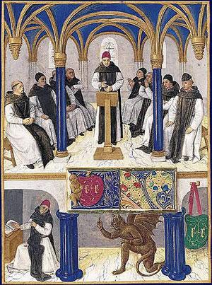 San Bernardo,miniatura libro de horas de Etienne Chevalier