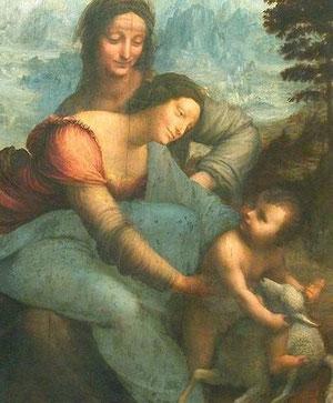 Virgen con Niño y Santa Ana. Leonardo.