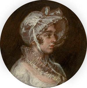 Goya.Manuela Goicoechea.Óleo sobre cobre.1805
