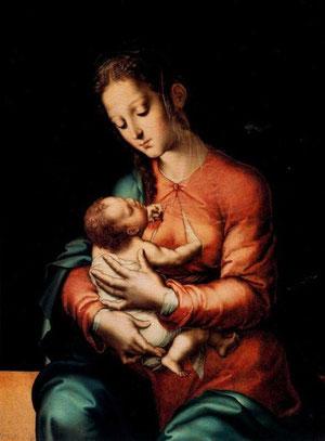 Luis Morales. Virgen con Niño. SXVI Museo del Prado