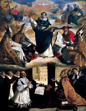 Apoteósis de Santo Tomás de Aquino, Zurbarán