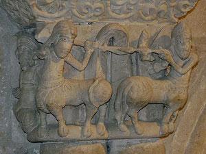 Capitel con centauros. San Claudio de Olivares. Zamora Símbolo de la tentación y del pecado