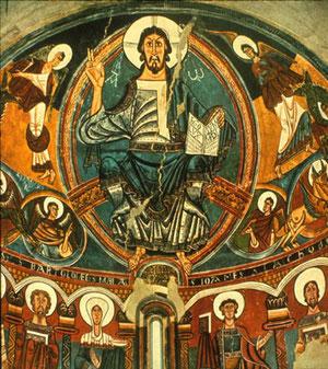 Pantocrátor de San Vicente de Tahull S XII