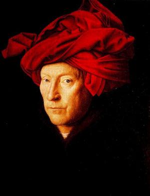 Retablo del hombre con turbante,1433,Londres Natinal Galery, de Jan Van Eyck