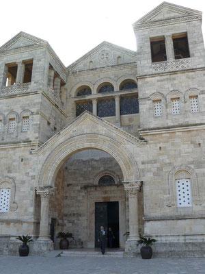 Fachada exterior Basílica del Monte Tabor