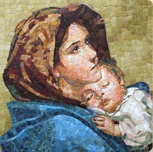 Virgen Gitana.Imagen cedida por blaeu-mosaic.com