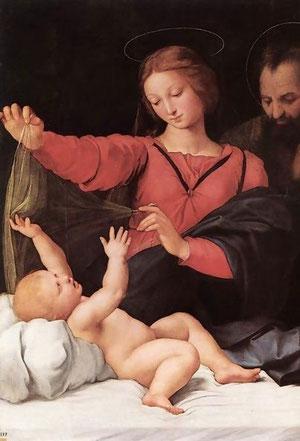 Madonna del velo o de Loreto.Rafael
