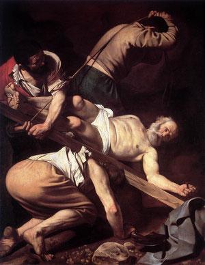 Crucifixión de San Pedro. Caravaggio.1601