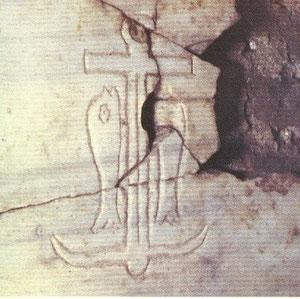 Catacumbas de San Calixto. Ancla.