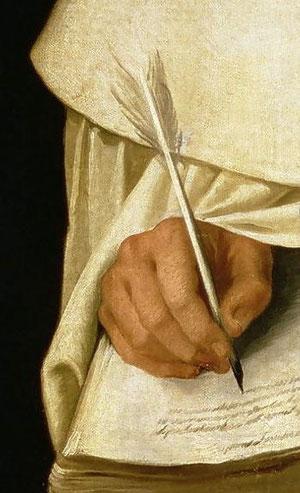 Detalle Hermano Pedro Machado,1604, Zurbarán