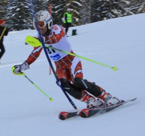 Andy beim Slalom