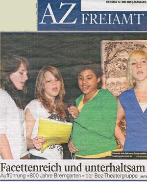 Dienstag, 12. Mai 2009, Aargauer Zeitung
