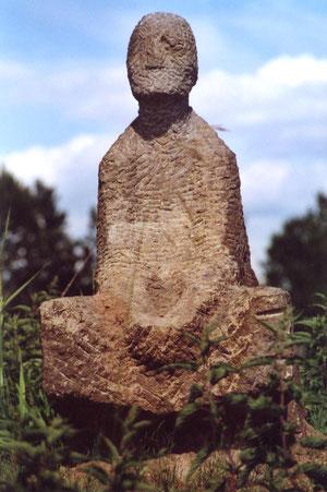 Skulptur eines unbekannten Künstlers / Bildhauer-Pleinair / Standort Skulpturenlinie