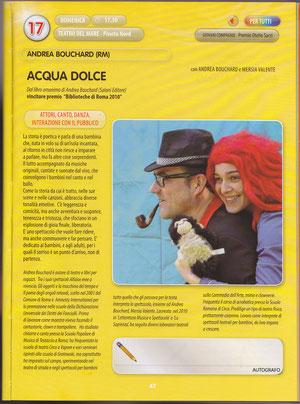 """dal programma del Festival """"I Teatri del Mondo 2011"""""""