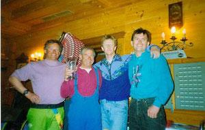 März 1992 die ersten Sieger  Bibergmandl  Toni Albert Simon u. Tom -es wurden damals 3 Durchgänge an 2 Tagen geflogen
