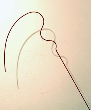 Andrea Ridder: ligne rouge, Alu & Lack