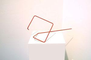 Andrea Ridder: ligne rouge, Alu & Lack, 2013