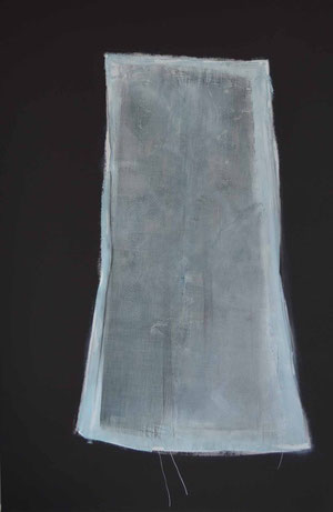 Andrea Ridder: O.T., 2011, Acryl, techn. Gewebe,, 120 x 80 cm.