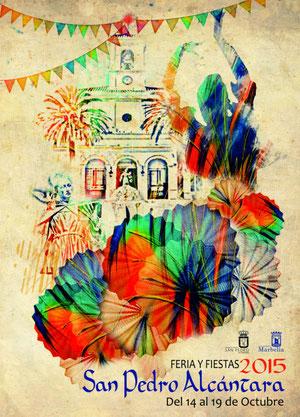 Feria y Fiestas de San Pedro Alcántara 2015 en Marbella Cartel y Programa