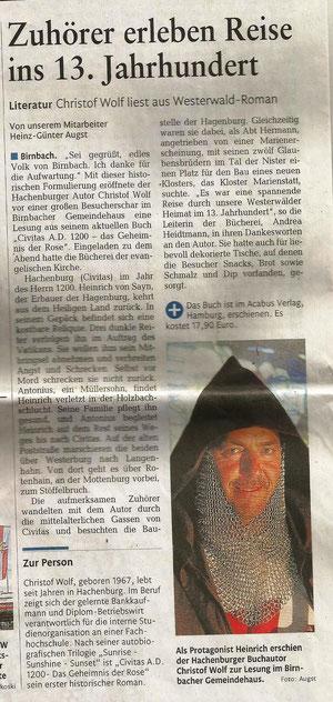 Rheinzeitung 24.05.2012