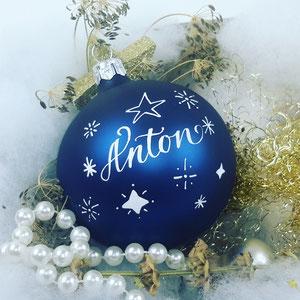 Design Sterne Weihnachtskugel