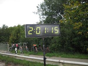 11.09.2011 Münster, die Halbmarathonzeit