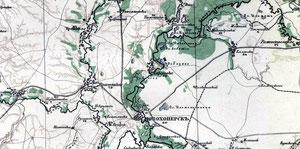 Карта  с.Алферовка, 1915 г