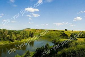 Река Хопер, вид из окрестностей поселения