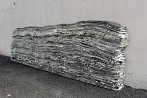 Schichtung 37 x 100 x 6 cm