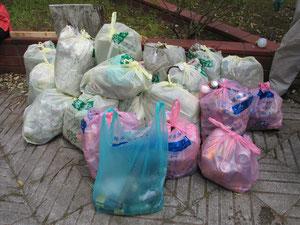 生谷公園組のゴミ