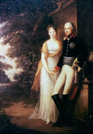 フリードリヒ・ヴィルヘルム三世と王妃ルイーゼ(フリードリヒ・ヴィルヘルム・ヴァイチ)
