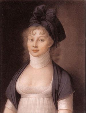 「メドゥーサ」の髪型をした王妃ルイーゼ(ニコラウス・ラウア1798年)