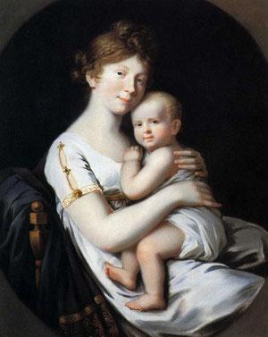 王太子妃ルイーゼとフリードリヒ・ヴィルヘルム(1796年 ヨーハン・ハインリヒ・シュローダー