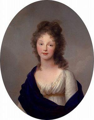 プロイセン王妃.ルイーゼ、ヨーハン・ハインリヒ・ヴィルヘルム・ティシュバイン作(1798年)
