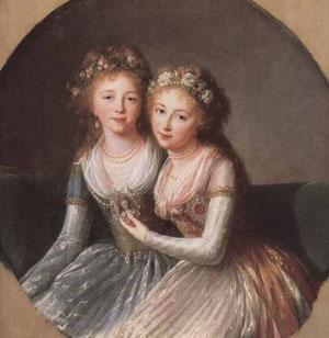 アレクサンドラとエレーナ・パヴロヴナ大公女、1795年