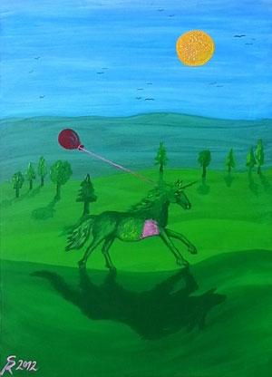 Acht, 2012 (Acryl auf Leinwand, 50x70)