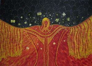 Die Ahnin, 2004 (Acryl auf Leinwand, 50x70)