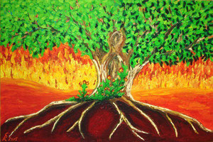 Gaia, 2005 (Acryl auf Leinwand 40x60)