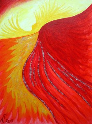 Engel der Leidenschaft, 2005 (Acryl auf Papier 36x48)