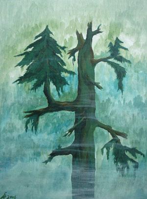 Der neue Baum, 2006 (Acryl auf Papier, A2)