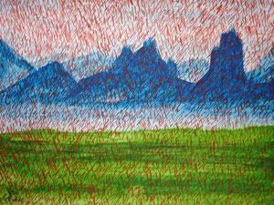 Missing, 2001 (Acryl auf Papier, 24x38)