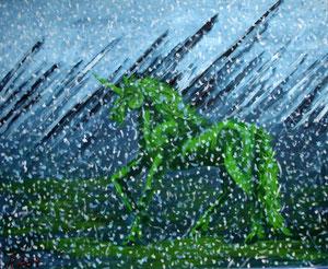 Schneestern, 2004 (Acryl auf Leinwand, 50x60)