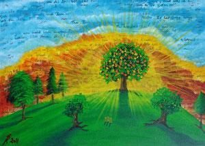 Psalm 103, 2011 (Acryl auf Leinwand, 50x70)