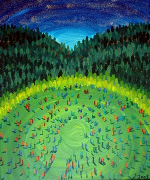 Jedermenschzeit, 2009 (Acryl auf Leinwand 50x60)