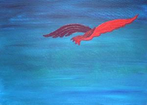 Phönix Ferox, 2005 (Acryl auf Leinwand 50x70)