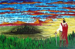 Psalm 27, 2011 (Acryl auf Leinwand 40x60)