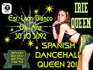 QSL especial Spanish Dancehall Queen nº1